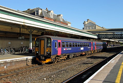 153361 153382 Exeter St Davids (CD Sansome) Tags: exeter st davids station train trains gwr fgw great western railway first 153 153361 153382 sprinter