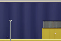 Minimalisme Abstract (JanNiezen) Tags: abstract minimalisme lines colors blue yellow lamp window eindhoven netherlands jan niezen