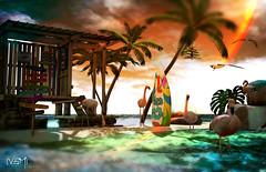 Good Vibes (Varosh Santanamiguel) Tags: flamingo beach dream sunshine sun clouds photo photographer photoshop art passion insurrektion ik gacha rare tlc tlcanimals tlcanimatedanimals animesh mesh bento surf surfing feeling island bali dominica malaysia blog model sim deco decorate 6threpublic 6republic republic event eventexclusive cosmopolitan cosmo indonesia mexico french wave regaae sl secondnature secondlfie avatar azur areiyon vsm