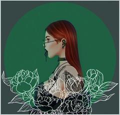 ᴘᴏɪꜱᴏɴ (Yasmina Zimminy) Tags: kosmii donor collar choker harrow glasses specs random matter iseul ears suicidal unborn piercings rebel gal crop top ison gina jacket doux cristal haristyle ginger cutie ❤