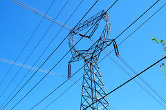Wires, Wires, Wires (Eclectic Jack) Tags: htt tuesday telegraph happy blue sky up look skyward wire wires