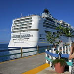 NORWEGIAN PEARL -Waiting for the return of the land excursionists - docked at Ocho Rios harbour thumbnail