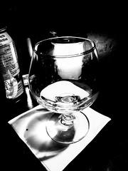 Snifter by candle light (MassiveKontent) Tags: contrast blancoynegro android absoluteblackandwhite mono night nightshot bar glass glow snifter wineglass noiretblanc blackwhite montreal bw city monochrome urban blackandwhite montréal quebec bwphotography restaurant noir