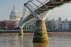 The Bridge (Croydon Clicker) Tags: bridge millenniumbridge footbridge cathedral dome river water thames stpauls buildings architecture london uk