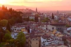 Florence sunset (kastrel) Tags: florence firenze tuscany italy sunset arno arnoriver