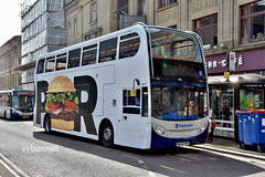 Stagecoach in Newcastle 19443, NK58FNH. (EYBusman) Tags: stagecoach newcastle busways tyne wear city centre overall advert burger king whopper alexander dennis enviro 400 19443 nk58fnh eybusman
