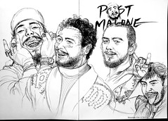 drawing Post malone - 05/2019 (animabase) Tags: drawing post malone postmalone artist rapper freedraw sketch daily artwork musician