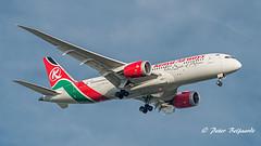 5Y-KZC  Boeing 787-8 Dreamliner - Kenya Airways (Peter Beljaards) Tags: msn36040 genx 787 kenyaairways boeing7878 dreamliner landing final nikon7003000mmf4556 haarlemmermeer airliner airplane aircraft passengerjet ams eham schiphol approach boeing787