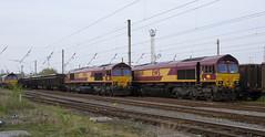 Heritage livery duo in Warrington Arpley Yard. (Marra Man) Tags: warringtonarpleyyard arpleympd dbcargo class66 class660 66067 66069