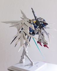Mahō Shōjo Wing Zero (Mike - drowning in plastic) Tags: wing zero gundam mobile suit ms jfigure robot mecha toy figure angel wings