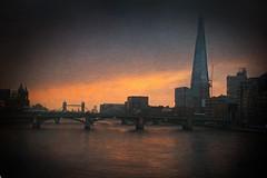 London sunrise (Painterly) (Pat Kelleher) Tags: london sunrise