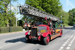 1938 Leyland TLM2A Turntable Ladder BFH972 (davidseall) Tags: 1938 h3 leyland tlm2a turntable ladder bfh972 bfh 972 fire engine appliance truck lorry emergency old british london brighton historic commercial vehicle society run may 2019 hcvs
