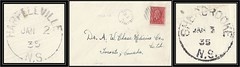 Nova Scotia Postal History - 2 / 3 January 1935 - HARPELLVILLE (Guysborough County), N.S. (cds / split ring / broken circle cancel / postmark) via Sherbrooke (Guysborough County), N.S. to Toronto, Ontario, Canada (Treasures from the Past) Tags: circulardatestamp postalwayoffice postmaster postoffice novascotia postalhistory ns county splitring brokencircle splitcircle postmark cancel cancellation marking son mail letter stamp canada novascotiapostalhistory canadapost harpellville sherbrooke guysboroughcounty