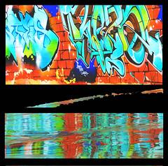Painting the beach. (Le.Patou) Tags: crazytuesday fullofcolour challenge fz1000 color colorful couleur blockhaus beach reflect reflet montage bunker streetart tag sand graffiti aquitaine atlantique médoc vensac
