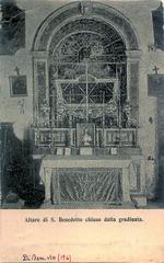 Palermo - Altare di S. Benedetto (Biblioteca Comunale di Palermo) Tags: palermo altare sanbenedettoilmoro conventodismariadigesù postcard cartoline gradinata icone