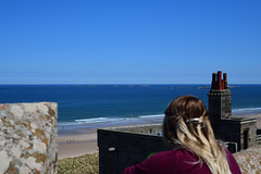View from the battlements (chris_m03) Tags: sea lookout farne islands bamburgh castle