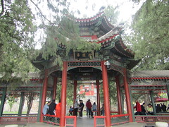wonderful park (VERUSHKA4) Tags: tree nature branch canon china asia beijing city cityscape park roof wooden colomne decor architecture people april spring springtime day foggy ville vue view verdure greens red green bough trunk perspective colonnada hccity astoundingimage
