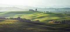 Spring layers (Ron Jansen - EyeSeeLight Photography) Tags: italy tuscany spring fields meadow lines waves green rolling hills light morning mood soft greens