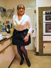 Denisewhirollnckl-001 (fionaxxcd) Tags: crossdresser crossdressing transvestite tranny trannie m2f mtf boygurl blonde hairband blackpatentstiletos blacktulipskirt whiterollnecksweater bangles redlipsbust breatsrednailshoopearrings blackpantyhose blacktights
