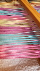 Incorrect shed for steps 3, 5, and 8. 3-shaft weaving on rh loom. (Sweet Annie Woods) Tags: