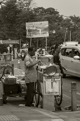 Stirring the pot (sepia) (Triple_B_Photography) Tags: indonesia java canon eos 7d 2018 bogor nationalpark street sepia travel tourism tourist