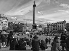 London ( 6 ) (Angel Talansky) Tags: london trafalgarsquare trafalgar nelson street londoncity square piazza england people column streetphoto streetphotography urban city