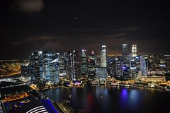 SINGAPORE (gabrielebettelli56) Tags: asia singapore night buildings lights nikon travel viaggi sea mare