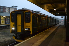Great Western Railway Sprinter 150244 (Will Swain) Tags: exeter st davids station 15th november 2018 train trains rail railway railways transport travel uk britain vehicle vehicles england english europe south west city centre central gwr class great western sprinter 150 150244 244