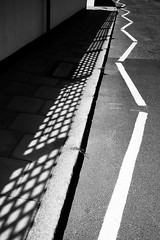 IMG_2465-1.jpg (Bulent Acar) Tags: shadows blackandwhite pavement road zigzag