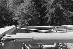 Bavarian-Forest-2018_14 (rhomboederrippel) Tags: rhomboederrippel fujifilm xe1 september 2018 europe germany bavaria nationalpark bayerischer wald neuschönau baumwipfelpfad treetopwalk bw monochrome structurework watchtower