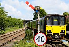British rail class 150 Sprinter D.M.U. (Elaine 55.) Tags: dmusprinter railways helsby station semaphore signal