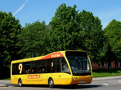 T27TYB - From Yellow Buses to Yellow 9's (BigEars Bus Photos) Tags: hanley dgbus dg optare versa v1110 yellowbuses transdev 27 t27tyb yellow9