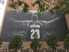 (procrast8) Tags: cleveland oh ohio cavaliers nba basketball lebron james poster sherwin williams building nike