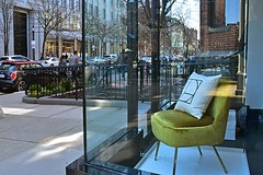 Yellow Chair (AntyDiluvian) Tags: boston massachusetts backbay newburystreet store shop window fashion design chair yellowchair