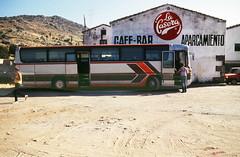 Südeuropa Bus Linie Berlin-Lissabon, Rasrstätte bei Salamanca, Spanien, 1985