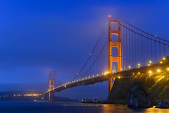 The Golden Gate at Dawn (dcnelson1898) Tags: goldengate goldengatebridge sanfranciscobay sanfrancisco presidioofsanfrancisco marincounty pacificocean dawn morning nikonz6 longexposure lights architecture icon california usa america