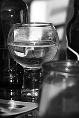 Canon EOS 60D - Monochrome - A glass of something in the sunshine (Gareth Wonfor (TempusVolat)) Tags: picmonkey garethwonfor tempusvolat gareth wonfor tempus volat mrmorodo glass mono monochrome sunshine garden drink beer canon eos 60d dslr digital
