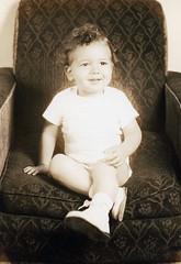 portrait of the photographer as a toddler (the foreign photographer - ฝรั่งถ่) Tags: patrick toddler rocking chair inglewood california scanned