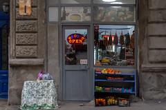 DSC_5866 (groissl) Tags: georgia notgeorgia countrygeorgia tbilisi tbilisigeorgia candy churchkhela storefront store cornerstore localstore рынок fruit sovietunion door window sidewalk winter
