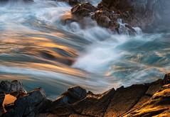 Fluid (Darren Barnes Photography) Tags: fluid pacific ocean pacificocean 2018 gold golden yellow blue green water rock rocks seascape teal kauai hawaii hi kauaihawaii dwoodphotography dwoodphotographycom