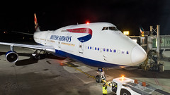 G-CIVB - British Airways - Boeing 747-436 (bcavpics) Tags: gcivb britishairways ba speedbird boeing 747 744 jumbo jet aviation aircraft airliner airplane plane night gate strobe cyvr yvr vancouver britishcolumbia canada bcpics