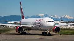 C-GHLA - Air Canada Rouge - Boeing 767-35H/ER (bcavpics) Tags: cghla aircanada rouge boeing 767 763er aviation aircraft airliner airplane plane cyvr yvr vancouver britishcolumbia canada bcpics