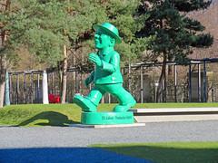 "Berlin - Skulptur Ampelmännchen ""25 Jahre Deutsche Einheit"" (www.nbfotos.de) Tags: berlin ampelmännchen statue skulptur sculpture 25jahredeutscheeinheit grün green"