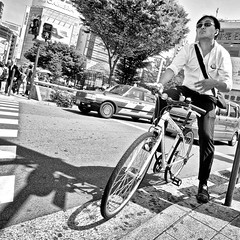 shinjuku, japan (michaelalvis) Tags: asia bw blackandwhite buildings bicycle bicycles candid city citylife pedestrian fujifilm flickr japan japanese japon japanesesigns monochrome mono nihon nippon peoplestreet portrait people peoplestreets streetphotography streetlife street signs travel tokyo urban x70 happyplanet asiafavorites