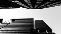 Look up (Jim Nix / Nomadic Pursuits) Tags: austin jimnix lx100 lightroom nomadicpursuits panasonic texas blackwhite cityscape downtown monochrome skyscrapers