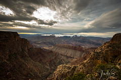 Good Morning (Timothy S. Photography) Tags: grandcanyon arizona unitedstatesofamerica hikersview cloudyphotography cloudyday hiking canyon godsview whataview