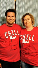 Zach & Angie in their Red Snoopy Shirts (photomama777) Tags: red shirts snoopy