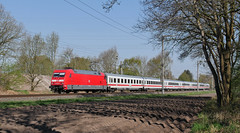 Ackerfurchen (Klaus Z.) Tags: eisenbahn kbs 395 leer eisinghausen br 101 personenzug intercity ic 2201 db fernverkehr frühling