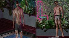#72 (Leon Miranda) Tags: swimwear varsity hugo access new trunks galvanized shorties equal10 event secondlife