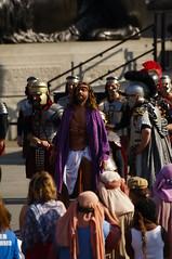 Passion Of Jesus play in Trafalgar Square on Good Friday - 103 (D.Ski) Tags: jesus passionofjesus play trafalgarsquare openair nikon nikond700 200500mm london england wintershall goodfriday easter